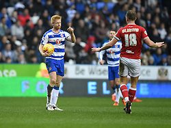 Paul McShane of Reading reacts to a challenge from Aaron Wilbraham of Bristol City  - Mandatory byline: Joe Meredith/JMP - 07966 386802 - 02/01/2016 - FOOTBALL - Madejski Stadium - Reading, England - Reading v Bristol City - Sky Bet Championship