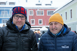 03.01.2019, Schladming, AUT, Planai-Classic 2019, Start zum Dachstein Prolog, im Bild v. l. Günther Schrems (AUT) und Rudi Roubinek (AUT) // Günther Schrems and Rudi Roubinek of Austria during the Planai-Classic 2019 in Schladming, Austria on 2019/01/03. EXPA Pictures © 2019, PhotoCredit: EXPA / Martin Huber