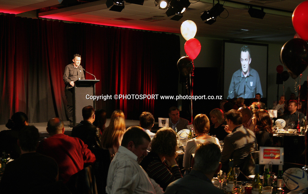 Vodafone Warriors CEO Wayne Scurrah at the pre match dinner function prior to the start of the match between the Vodafone Warriors and the Penrith Panthers at Mt Smart Stadium, Auckland on Friday 22 June 2007. Photo: Andrew Cornaga/PHOTOSPORT