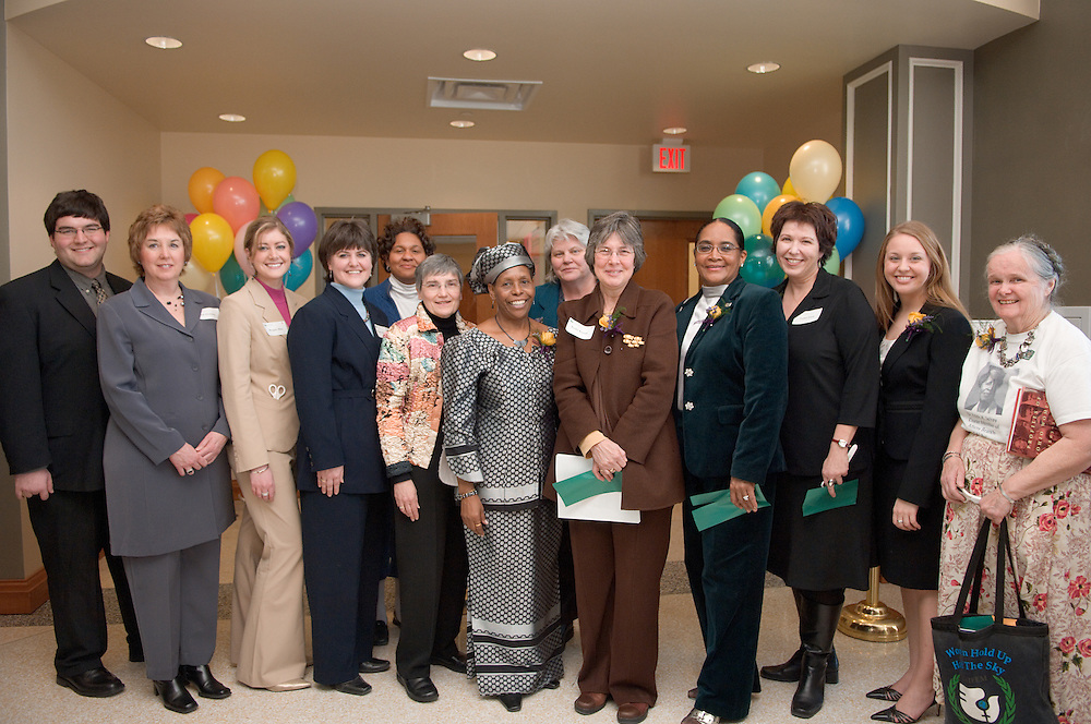 Baker Center Dedication..Women's Center..Dominic Barbato, Gail Houlette, Morgan Allen,Wendy Merb Brown,MS. MONICA JONES,Phyllis Bernt, Beatrice Selotlegeng,.Judith Grant,Merle Graybill,Kathy Krendl,Mrs.McDavis, Judith Grant,Lee Robbins