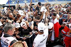 June 21, 2018 - Le Castellet, France - Motorsports: FIA Formula One World Championship 2018, Grand Prix of France, ..#44 Lewis Hamilton (GBR, Mercedes AMG Petronas Motorsport) (Credit Image: © Hoch Zwei via ZUMA Wire)