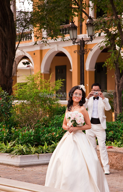 Shamian Island in Guangzhou is crowded with beautiful old archecture that acts as a drawcard and stunning backdrop for brides and photographers.