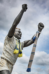 © Licensed to London News Pictures. 04/08/2015. Leeds, UK. Stock photo shows Billy Bremner of Leeds United football club. Leeds United fans are the most vocal on Twitter out of all 92 English professional clubs, a new study has found. Supporters averaged 7.7 tweets per fan over the last six months, according to the Crowdscores research, with fellow Championship side Middlesbrough in second place with 6.6 tweets. The study looked at fans' interaction with their club's official Twitter accounts. Photo credit : Andrew McCaren/LNP