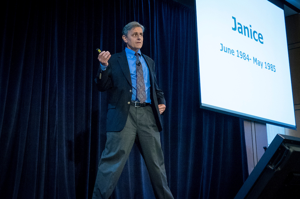 "Kevin Tracey, President and CEO of The Feinstein Institute for Medical Research, delivers a keynote address at DARPA's ""Biology Is Technology"" symposium in New York City on June 23, 2015. The two-day event was held by DARPA's Biological Technologies Office to bring together leading-edge technologists, start-ups, industry, and academic researchers to look at how advances in engineering and information sciences can be used to drive biology for technological advantage."