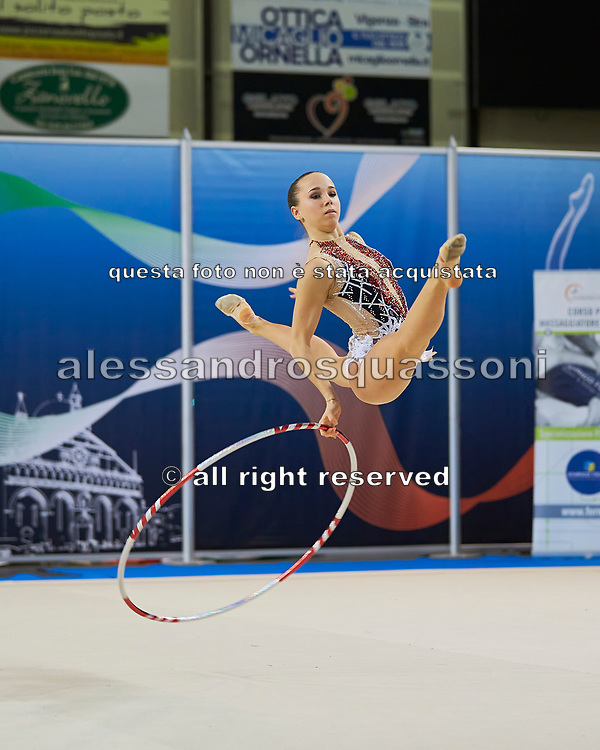 Denise Peracca from Virtus Gallarate team during the Italian Rhythmic Gymnastics Championship in Padova, 25 November 2017.