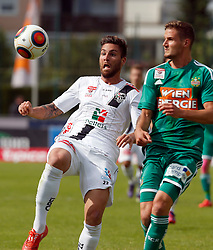 31.05.2015, Stadion Wolfsberg, Wolfsberg, AUT, 1. FBL, RZ Pellets WAC vs SK Rapid Wien, 35. Runde, im Bild v.l. Manuel Seidl (RZ Pellets WAC) und Philipp Schobesberger (SK Rapid Wien) // during the Austrian Football Bundesliga 35th Round match between RZ Pellets WAC and SK Rapid Vienna at the Stadium Wolfsberg in Wolfsberg Austria on 2015/05/31, EXPA Pictures © 2015, PhotoCredit: EXPA/ Wolfgang Jannach