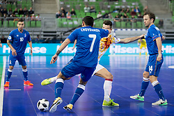 Ramiz Chovdarov of Azerbaijan during futsal match between National teams of Ukraine and Portugal at Day 6 of UEFA Futsal EURO 2018, on February 4, 2018 in Arena Stozice, Ljubljana, Slovenia. Photo by Urban Urbanc / Sportida