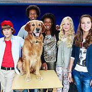 NLD/Hilversum/20130822 - Cast nieuwe TROS-jeugdserie CAPS CLUB, Lucille Werner, Daan de Groot, Eefje Paddenburg, Leonie Elbert, Leontine Borsato - Ruiters, Mike Libanon en Leona Phillipo