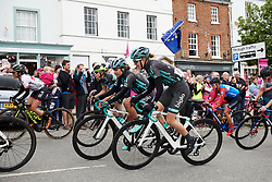 Lizzy Banks (GBR) and Leah Thomas (USA) at Stage 3 of 2019 OVO Women's Tour, a 145.1 km road race from Henley-on-Thames to Blenheim Palace, United Kingdom on June 12, 2019. Photo by Sean Robinson/velofocus.com