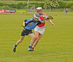 Fionnula McLaughlin in action for the Westport U14 camoige team during feile on saturday last.<br />Pic Conor McKeown