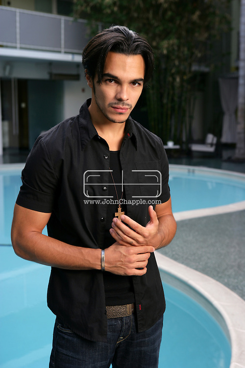 7th September 2007, Beverly Hills, California. Singer/actor Shalim Ortiz, who has joined the cast of Heroes, playing the part of Alejandro. Ortiz, whose previous credits include ?Spin?, is pictured at the Avalon Hotel in Beverly Hills. PHOTO © JOHN CHAPPLE / REBEL IMAGES.310 570 9100.john@chapple.biz.www.chapple.biz.