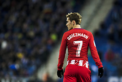 December 22, 2017 - Barcelona, Spain - BARCELONA, SPAIN - DECEMBER 22:  07 Antoine Griezmann from France of Atletico de Madrid during the match of La Liga Santander between RCD Espanyol v Atletico de Madrid, at RCD Stadium in Barcelona on 22 of December, 2017. (Credit Image: © Xavier Bonilla/NurPhoto via ZUMA Press)