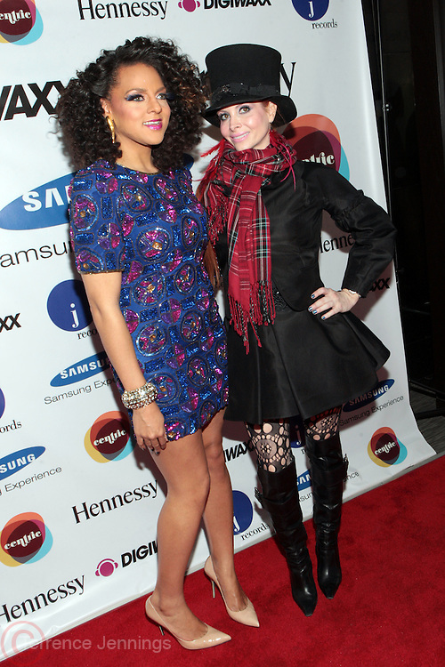 1 March 2011- New York, NY- Marsha Ambrosius and Chove Price at the record release party for Marsha Ambrosius's  debut solo album  ' Late Nights and Early Mornings ' presented by J Records, DIgiwaxx, Hennessey and BET Centric and held at the Samsung Experience at The Time Warner Center on March 1, 2011 in New York City. Photo Credit: Terrence Jennings