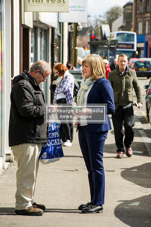 Pictured: <br /> <br /> Scottish Greens Health and social care spokeswoman Alison Johnstone took the opportunity to meet some of the electorate before  helping out at the lunch club at the Hollies Day Centre. The facility caters for the social and practical needs of the over-60s and runs a popular cafe and charity shop. <br /> <br /> Ger Harley   EEm 25 April 2016