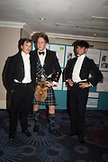 TOM HOLLAND-HIBBERT; CHARLIE LONGSTAFF; PETER JONES, The Royal Caledonian Ball 2015. Grosvenor House. Park Lane, London. 1 May 2015.