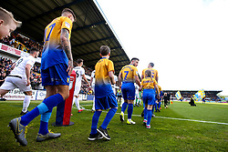Mansfield Town walk out to face Newport County at The One Call Stadium - Mandatory by-line: Robbie Stephenson/JMP - 12/05/2019 - FOOTBALL - One Call Stadium - Mansfield, England - Mansfield Town v Newport County - Sky Bet League Two Play-Off Semi-Final 2nd Leg