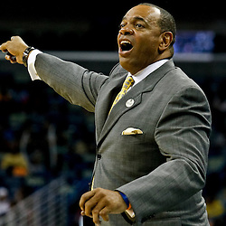October 9, 2010; New Orleans, LA, USA; Memphis Grizzlies head coach Lionel Hollins reacts from the bench during the second half of a preseason game against the New Orleans Hornets at the New Orleans Arena.The Grizzlies defeated the Hornets 97-90. Mandatory Credit: Derick E. Hingle