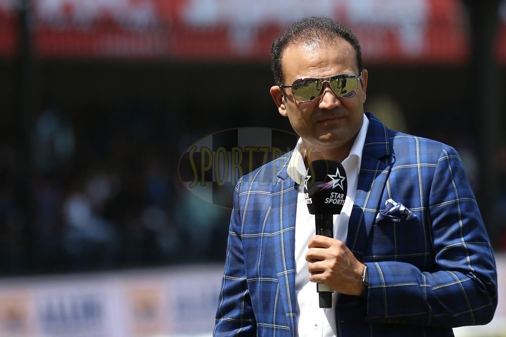 Virender Sehwag during the 3rd One Day International between India and Australia held at the Holkar Stadium in Indore on the 24th  September 2017<br /> <br /> Photo by Arjun Singh / BCCI / SPORTZPICS