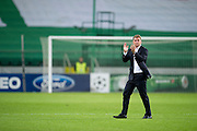 Legia's trainer coach Jan Urban after the UEFA Champions League play-off second leg match between Legia Warsaw and FC Steaua Bucuresti at Pepsi Arena Stadium in Warsaw on August 27, 2013.<br /> <br /> Poland, Warsaw, August 27, 2013<br /> <br /> Picture also available in RAW (NEF) or TIFF format on special request.<br /> <br /> For editorial use only. Any commercial or promotional use requires permission.<br /> <br /> Photo by &copy; Adam Nurkiewicz / Mediasport