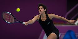 February 8, 2019 - Doha, QATAR - Carla Suarez Navarro of Spain practices ahead of the 2019 Qatar Total Open WTA Premier tennis tournament (Credit Image: © AFP7 via ZUMA Wire)
