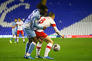 Ben Wiles of Rotherham United (8) and Fankaty Dabo of Coventry City (23) during the EFL Sky Bet League 1 match between Coventry City and Rotherham United at the Trillion Trophy Stadium, Birmingham, England on 25 February 2020.