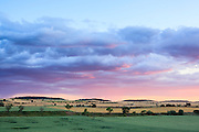 Farmland landscape at sunset. Lleida province. Catalonia. Spain.