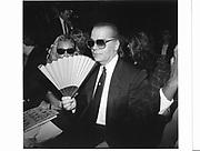 Karl Largerfeld. New York. 1991 approx. © Copyright Photograph by Dafydd Jones 66 Stockwell Park Rd. London SW9 0DA Tel 020 7733 0108 www.dafjones.com