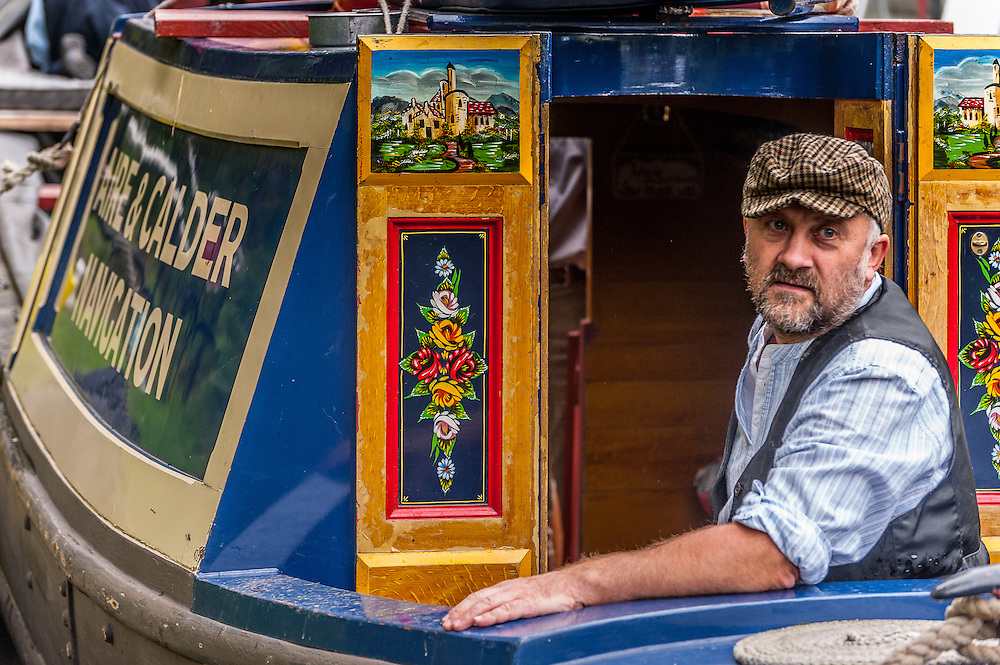 Traditional narrow boats at the South Pennines Walk and Ride Festival. For SPW&RF.