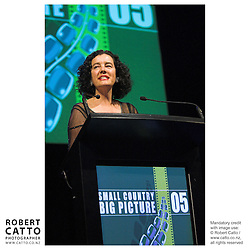 Penelope Borland at the Spada Conference 2005: Small Country, Big Picture at the Events Centre, Wellington, New Zealand.