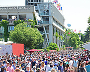 Roland Garros in the sunshine during the preliminary rounds of the Roland Garros Tennis Open 2017 at  at Roland Garros Stadium, Paris, France on 1 June 2017. Photo by Jon Bromley.