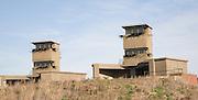 Second world war military buildings, Landguard Fort, Felixstowe, Suffolk, England
