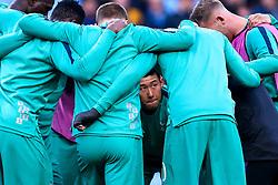 Son Heung-Min of Tottenham Hotspur looks on during a huddle - Mandatory by-line: Robbie Stephenson/JMP - 17/04/2019 - FOOTBALL - Etihad Stadium - Manchester, England - Manchester City v Tottenham Hotspur - UEFA Champions League Quarter Final 2nd Leg