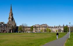 View of Bruntsfield Links in Edinburgh, Scotland, UK