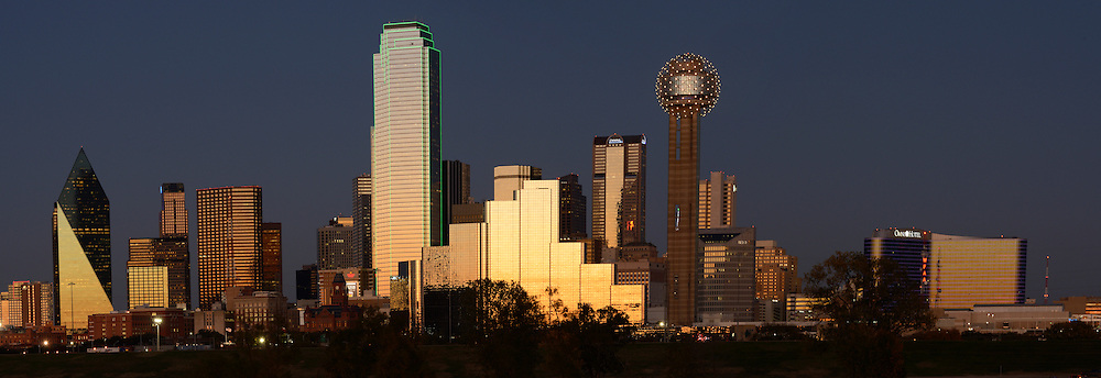 Skyline of Downtown Dallas, Texas,USA