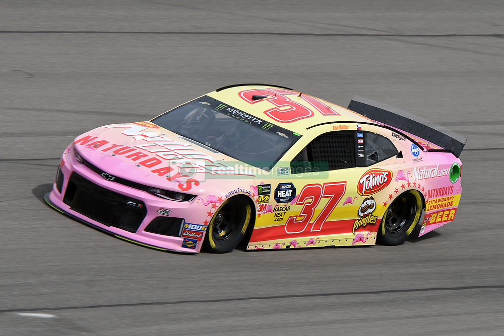 March 1, 2019 - Las Vegas, NV, U.S. - LAS VEGAS, NV - MARCH 01: Chris Buescher (37) JTG-Daugherty Racing Chevrolet Camaro ZL1 drives through turn four during practice for the Monster Energy NASCAR Cup Series 22nd Annual Pennzoil 400 on March 1, 2019, at the Las Vegas Motor Speedway in Las Vegas, Nevada. (Photo by Michael Allio/Icon Sportswire) (Credit Image: © Michael Allio/Icon SMI via ZUMA Press)