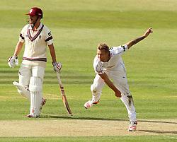Hampshire's Gareth Berg bowls - Photo mandatory by-line: Robbie Stephenson/JMP - Mobile: 07966 386802 - 21/06/2015 - SPORT - Cricket - Southampton - The Ageas Bowl - Hampshire v Somerset - County Championship Division One