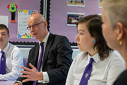 Pictured: John Swinney met students and parents in the Family Engagement Room<br /><br />The Deputy First Minister visited Holy Rood High School in Edinburgh today to meet parents and pupils before announcing GBP50 million funding for improving attainment.  The results of a survey of headteachers were also published during the Deputy First Minister's visit.<br /><br /> Ger Harley | EEm 30 May 2019