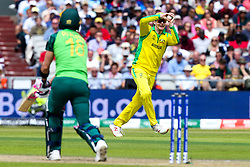 Steve Smith of Australia fields the ball - Mandatory by-line: Robbie Stephenson/JMP - 06/07/2019 - CRICKET - Old Trafford - Manchester, England - Australia v South Africa - ICC Cricket World Cup 2019 - Group Stage