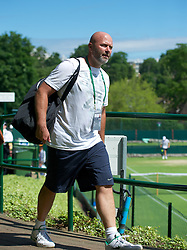 LONDON, ENGLAND - Tuesday, June 26, 2012: Petra Kvitova's coach David Kotyza practices during day two of the Wimbledon Lawn Tennis Championships at the All England Lawn Tennis and Croquet Club. (Pic by David Rawcliffe/Propaganda)