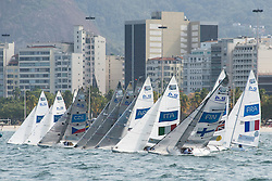 2.4MR Class Flotilla on Start Line, Sailing, Voile à Rio 2016 Paralympic Games, Brazil