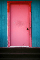 Contrasting colors in a Santa Fe doorway.