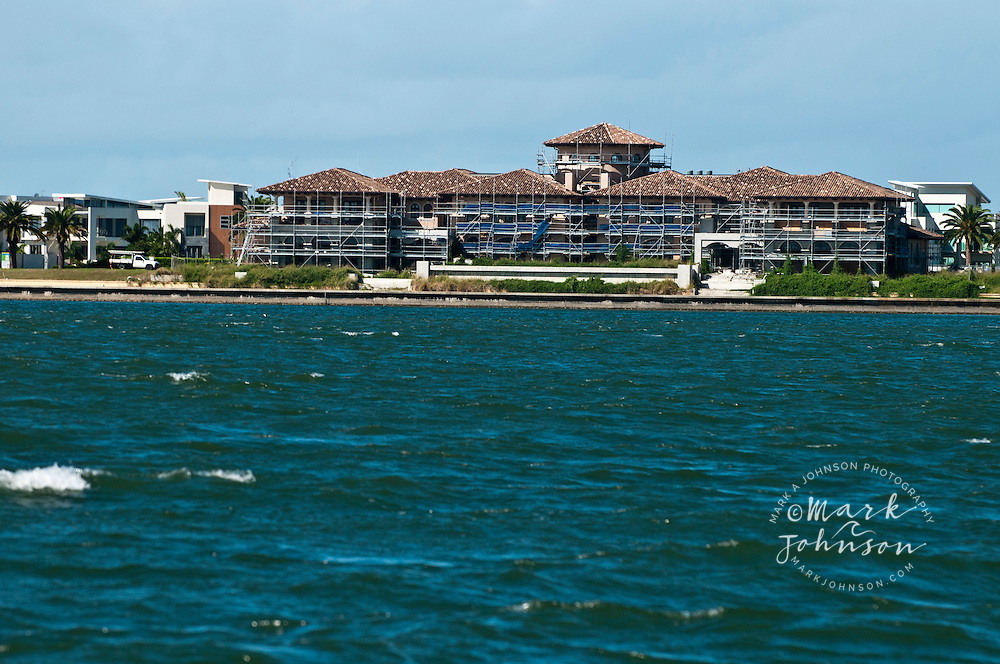 Unfinished waterfront mansion, Sovereign Islands, Gold Coast, Queensland, Australia