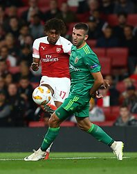 September 20, 2018 - London, England, United Kingdom - Arsenal's Alex Iwobi.during UAFA Europa League Group E between Arsenal and FC Vorskla Poltava at Emirates stadium , London, England on 20 Sept 2018. (Credit Image: © Action Foto Sport/NurPhoto/ZUMA Press)
