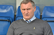 Coventry City manager, Tony Mowbray before the Sky Bet League 1 match between Bury and Coventry City at Gigg Lane, Bury, England on 26 September 2015. Photo by Mark Pollitt.