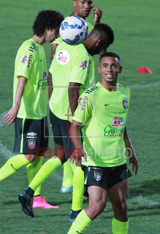 Manaus - 07/10/2015 - Gabriel de Jesus durante treino da Seleção Olímpica Brasileira de Futebol em Manaus nessa quarta-feira(07). Foto: Ricardo Oliveira/Frame
