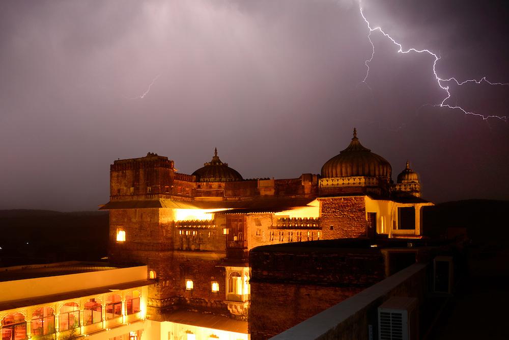 Hotel castle Bijaipur, Rajasthan,India,Asia