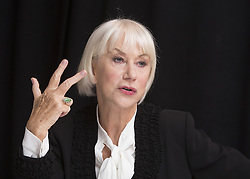 December 3, 2016 - New York, New York, U.S. - Helen Mirren promotes the movie 'Collateral Beauty.' Dame Helen Lydia Mirren DBE (Mironoff; born 26 July 1945) is an English actress. Mirren began her acting career with the Royal Shakespeare Company in 1967, and is one of the few performers who have achieved the Triple Crown of Acting, having won the Academy Award for Best Actress in 2007, after two previous nominations, for her performance as Queen Elizabeth II in The Queen. She received an Olivier Award for Best Actress in 2013 for her West End performance in The Audience, in which she also portrayed Elizabeth II, and in 2015 she won the Tony Award for Best Actress in a Play for her Broadway performance in the play. The Audience was written by Peter Morgan, who also wrote The Queen. Mirren won three consecutive BAFTA Awards for Best Actress between 1992 and 1994 and her first of several Emmy Awards in 1996 for her performance as police detective Jane Tennison on the British television series Prime Suspect, which ran for seven seasons between 1991 and 2006.In 2003, she was appointed a Dame Commander of the Order of the British Empire (DBE) for Services to the Performing Arts. In 2013, Mirren was awarded a star on the Hollywood Walk of Fame, and in 2014, BAFTA announced that Mirren would be the recipient of the Academy Fellowship. (Credit Image: © Armando Gallo via ZUMA Studio)