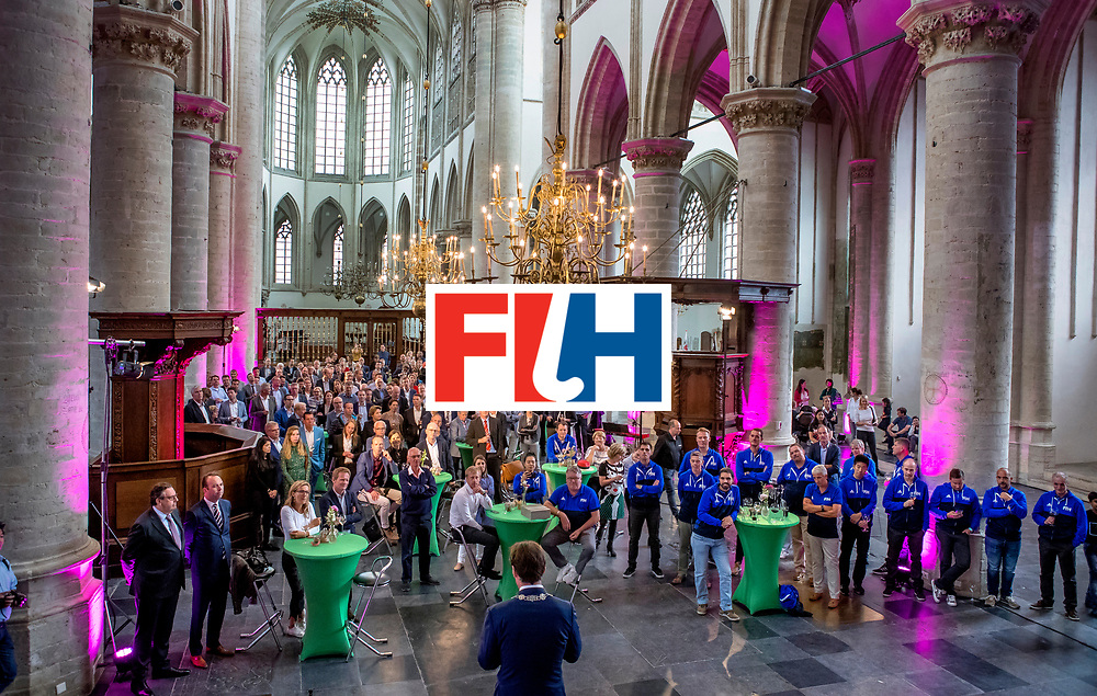 BREDA -  officiele opening van de Rabobank Champions Trophy Hockey , in de Nieuwe Kerk van Breda.   COPYRIGHT  KOEN SUYK