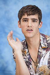 May 20, 2017 - Hollywood, California, U.S. - BRENTON THWAITES promotes 'Pirates of the Caribbean: Dead Men Tell No Tales.' Brenton Thwaites (born August 10 1989) is an Australian actor who first came to prominence with his portrayal of Luke Gallagher in the Fox8 teen drama series SLiDE (2011), and later Stu Henderson in the soap opera Home and Away (2011–12). Since moving to the United States, Thwaites has headlined films such as Blue Lagoon: The Awakening (2012), Oculus (2013), and The Giver (2014). Thwaites was the lead actor in 2016's Gods of Egypt and will next star in Pirates of the Caribbean: Dead Men Tell No Tales, the 2017 installment of the Pirates of the Caribbean franchise, as Henry Turner. (Credit Image: © Armando Gallo via ZUMA Studio)