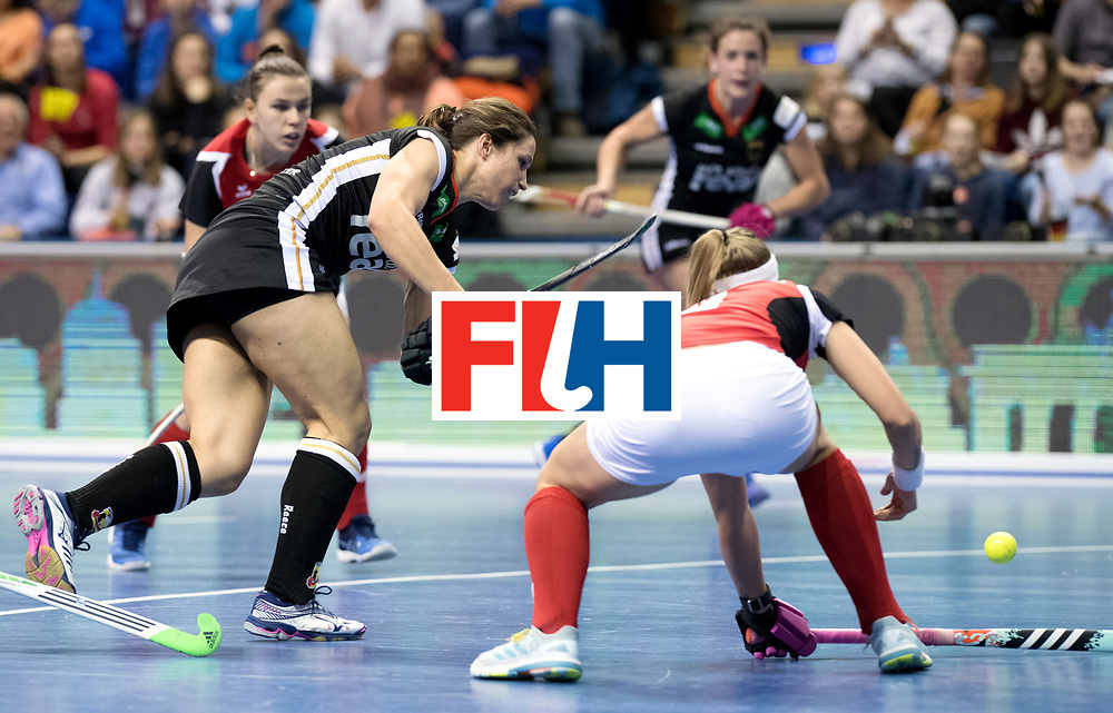 BERLIN - Indoor Hockey World Cup<br /> Quarterfinal 3: Germany - Poland<br /> foto: Luisa Steindor.<br /> WORLDSPORTPICS COPYRIGHT FRANK UIJLENBROEK